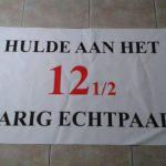 Spandoek voor 12,5 jarig huwelijksfeest  € 5,00