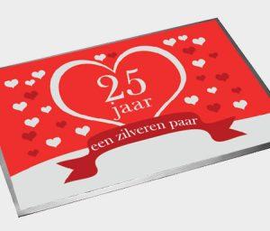 25 jaar een zilveren paar