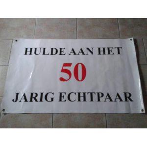 Spandoek voor 50 jarig huwelijksfeest  € 5,00