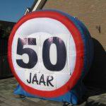 Verkeersbord voor sarah & abraham  € 35,00
