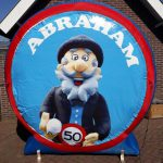 Verkeersbord abraham cartoon  € 35,00