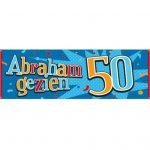 Gevelbanner / spandoek abraham 50 gezien