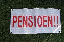 Banner pensioen  € 5,00