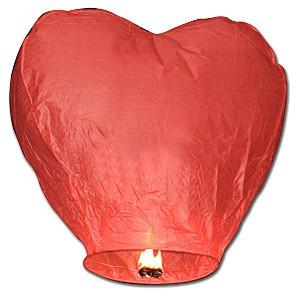 Wensballon / geluksballon rood hart