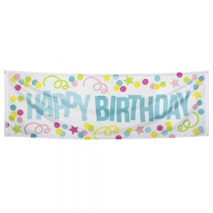 Gevelbanner / spandoek happy birthday