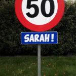 Verkeersbord sarah metaal  € 15,00