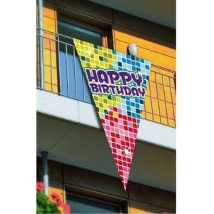 Puntvlag happy birthday