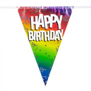 Folievlaggenlijn happy birthday