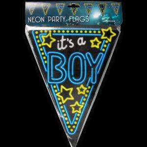 Vlaggenlijn neon – it's a boy  (7012919)