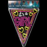 Vlaggenlijn neon – it's a girl  (7012920)