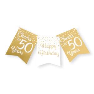 Vlaggenlijn 50 jaar goud – wit  (7023007)
