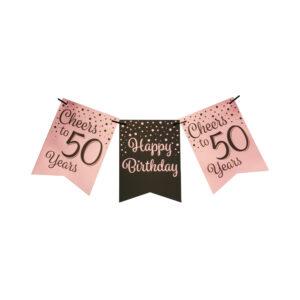 Vlaggenlijn 50 jaar roze – zwart  (7024007)
